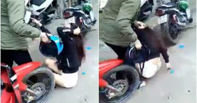 Đánh ghen, người phụ nữ đánh ghen trên phố