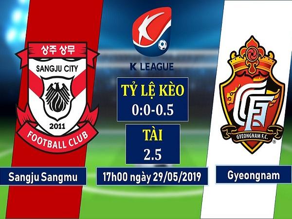 Soi kèo Sangju Sangmu vs Gyeongnam, 17h ngày 29/5