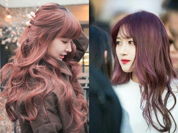 Sức hút không thể chối từ khi nhuộm tóc màu nâu đỏ