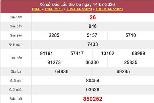 Dự đoán XSDLK 21/7/2020 chốt KQXS ĐăkLắc thứ 3