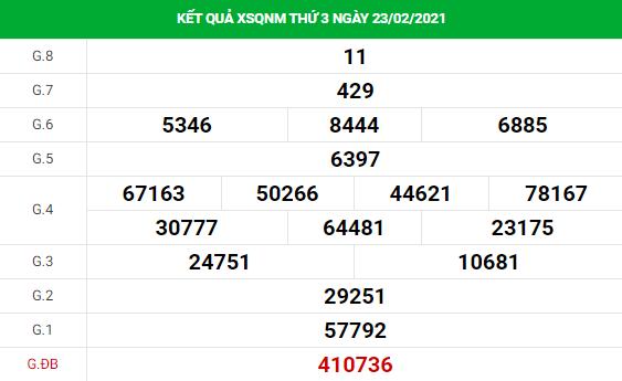 Soi cầu XS Quảng Nam chính xác thứ 3 ngày 02/03/2021