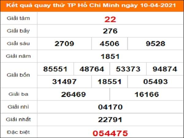 Quay thử XS Hồ Chí Minh ngày 10/4/2021 thứ 7