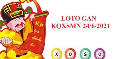 Loto gan KQXSMN ngày 24/6/2021