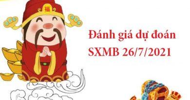 dự đoán SXMB 26/7/2021