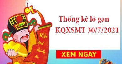 Thống kê lô gan KQXSMT 30/7/2021