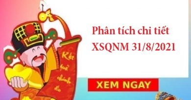 Phân tích chi tiết XSQNM 31/8/2021